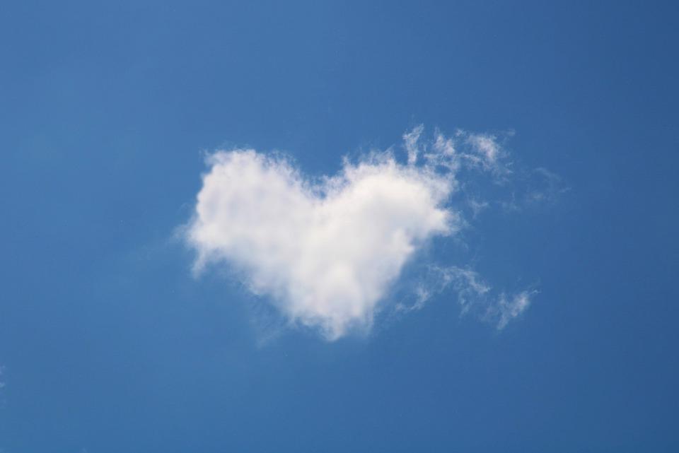 Wolk, Hart, Liefde, Romance, Romantische, Droom