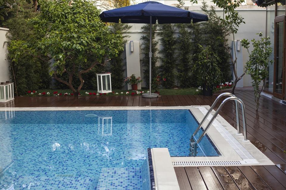 Pool, House, Luxury, Swim, That, Blue, Villa, Design