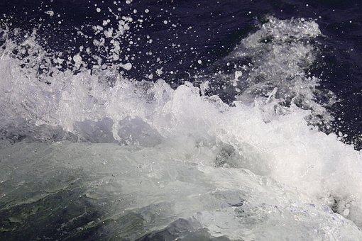 Welle, Wasser, Ostsee, Spritzer, Nass