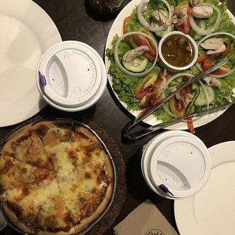 Pizza, Salad, Food, Nutrition, Delicious