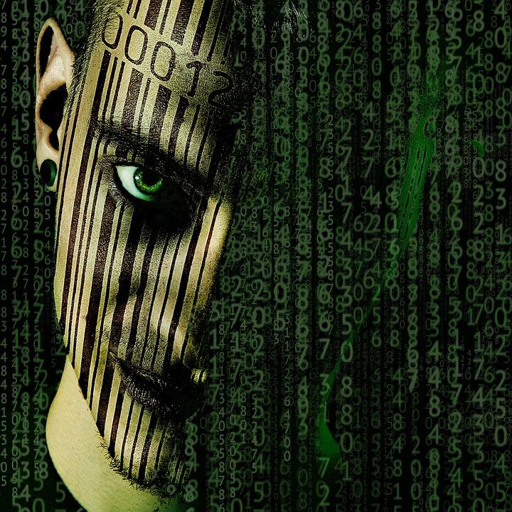 Barcode, Matrix, Donker, Eng, Scannen, Gecodeerd