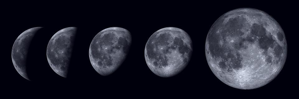 Luna, Espacio, Planeta, Galaxia, Lunar, Noche