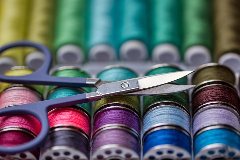 Thread, Sewing Accessories, Colorful, Scissors, Sew