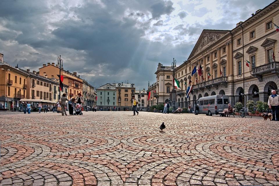 Città, Piazza, Aosta, Italia, Turismo, Architettura