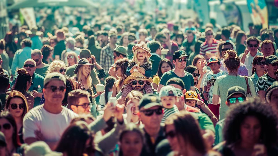 Crowd, Fitzroy, Melbourne, Urban, City, Event, People