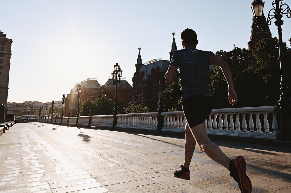 Running, Moscow, The Kremlin, Sunset, City