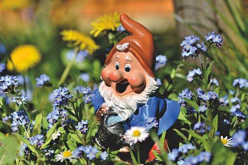 Garden Gnome, Dwarf, Figure, Gartendeko