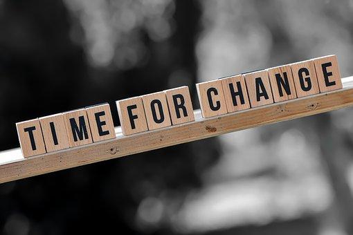 変更の時間, 新しい方法, 文字, 単語, フォント, と言って, テキスト