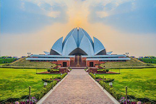 lotus temple in Delhi image