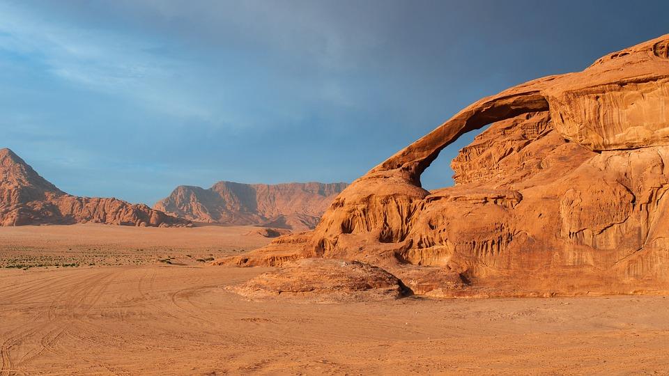 Wadi Rum, Jordan, Desert, Mountains, Sand, Sand Stone
