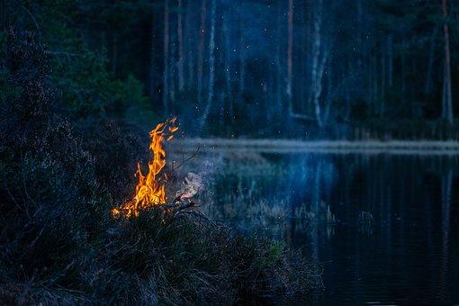 Cheminée, Feu De Camp, Flamme, Le Feu, Brûler