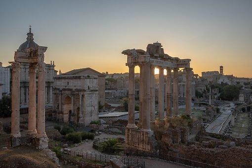 ローマ, フォロロマーノ, ォロマの, イタリア, 旅行, ヨーロッパ, 市