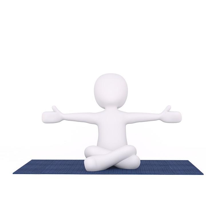 Yoga, Yoga Mat, Training, Sport, Stretch, 3D, Model