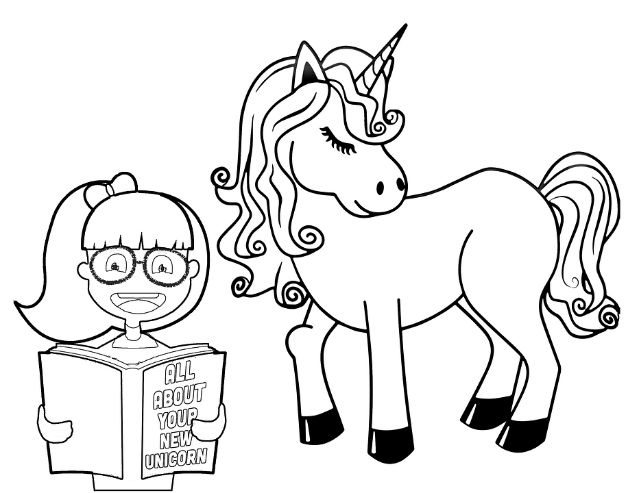 Top 50 Free Printable Unicorn Coloring Pages | Horse coloring ... | 720x932