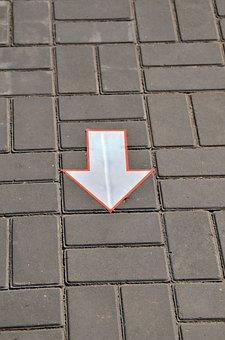 Asphalt, Direction, Arrow, Route