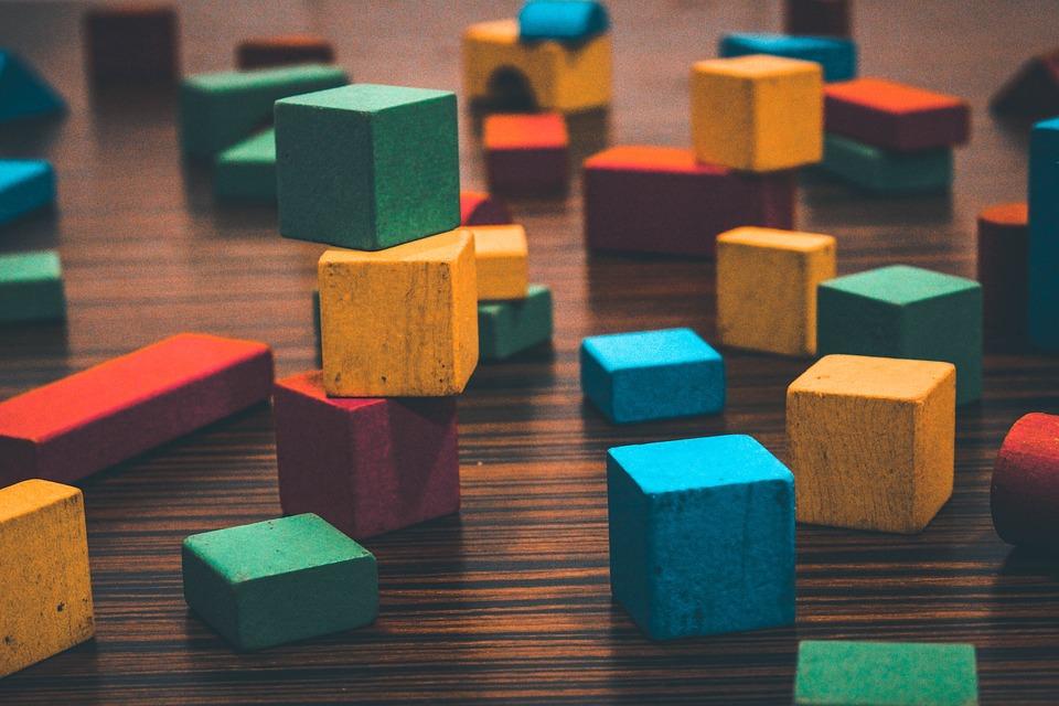 Градивни Блокове, Творческа, Цветове, Играчки, Дървена