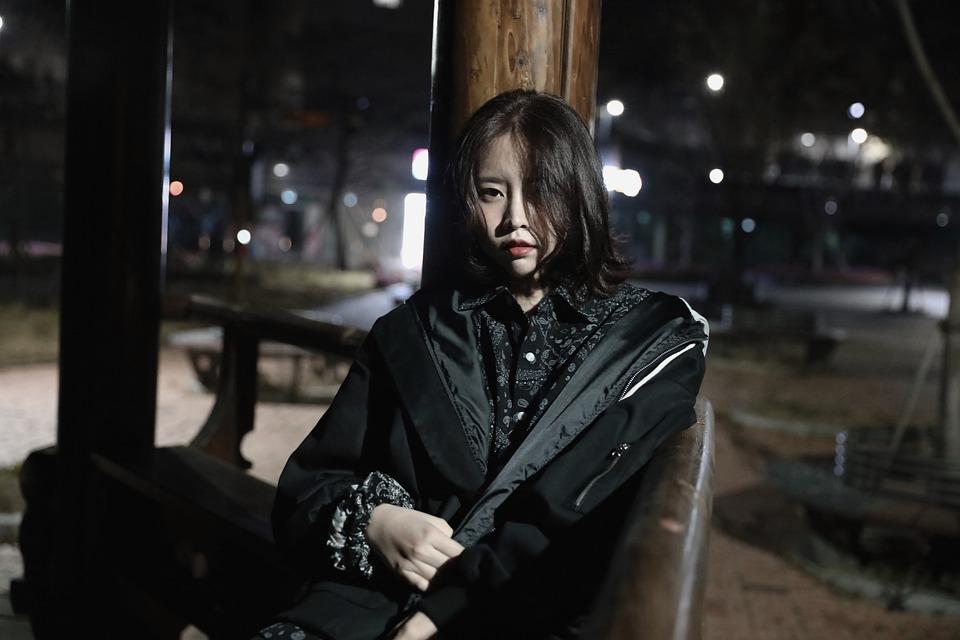 女性, 韓国語, 韓国, 女の子, 人, アジア, アジアの, 肖像画, モデル, 屋外