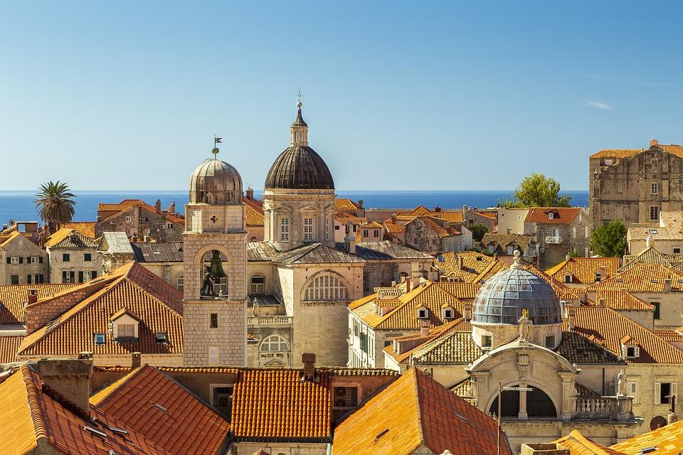 Dubrovnik, Croatia, Adriatic, Red, Roofs, Travel