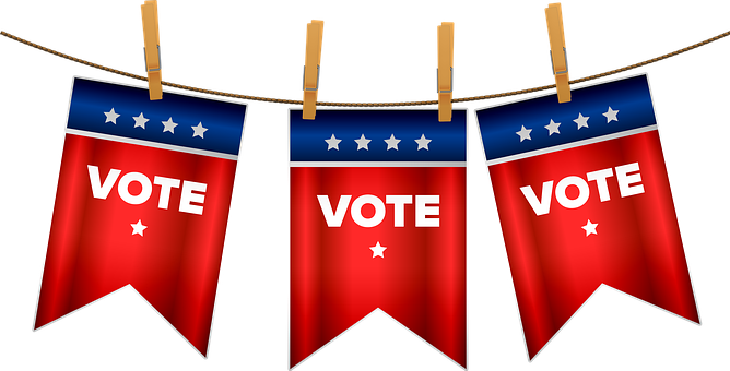 Election 2020, Vote, Bunting, Usa