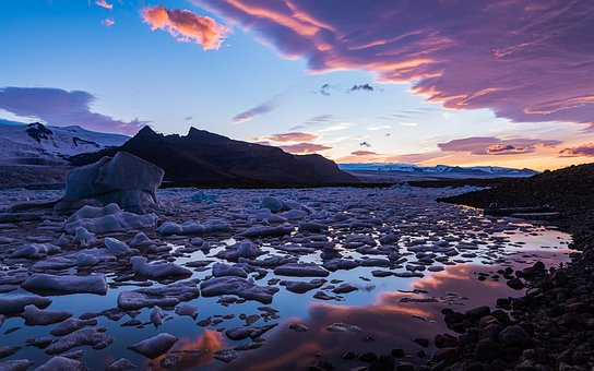 Iceland, Landscape, Water, Sky, Waters