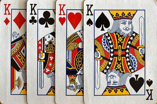 Cards, Kings, Four, Deck, Gambling, Game