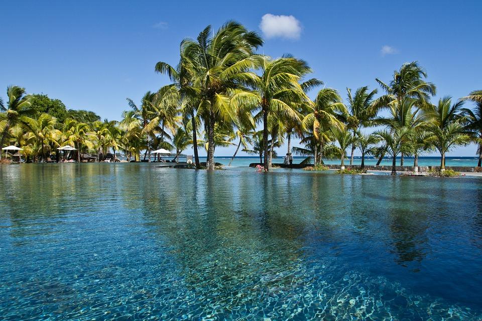Palme sull'isola di Mauritius paesi più visitati in Africa