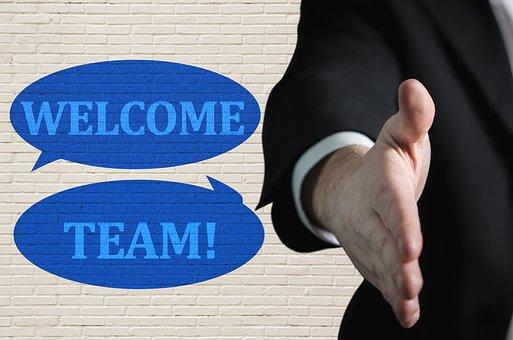 Welcome Team, Handshake, Welcome, Team