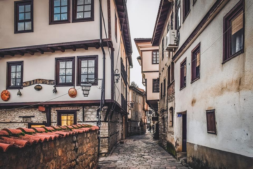 enge Gassen, Altstadt, Mazedonien