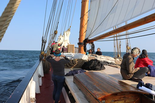 Segelschiff, Segel, Wasser, Meer