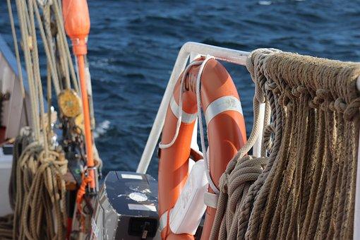 Rettungsring, Seile, Knoten, Sicherheit