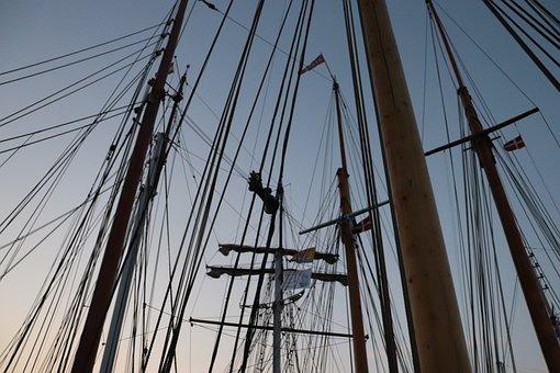 Segelschiff, Mast, Segel, Segelboot