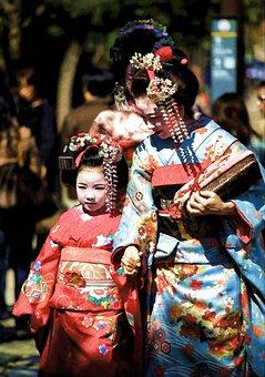 Geisha, Traditional, Clothes, Female