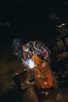 Welding, Welder, Sparks, Metallurgy