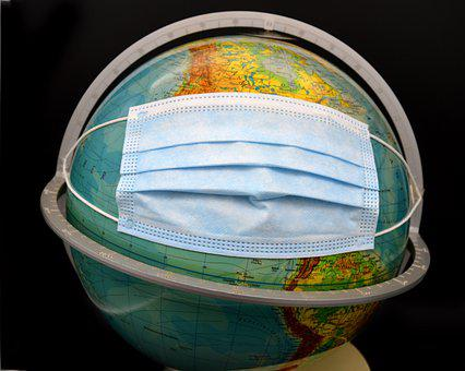 Globe, Corona, Monde, Masque, Virus