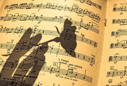 Music Sheet, In A Shadow, Flute, Piano