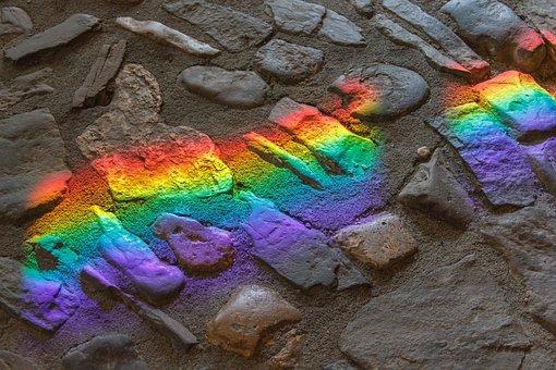 太陽の反射, 色, カラフル, 背景, アート, 抽象的な, パターン, 虹