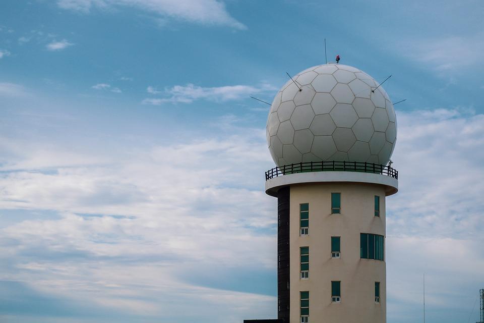 Ciel, Radar, Tour, Antenne, Radio, Militaire, Signaux