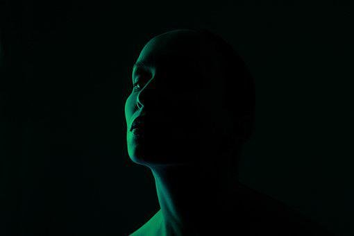 Verde, Rosto, Luz, Retrato, Mulher