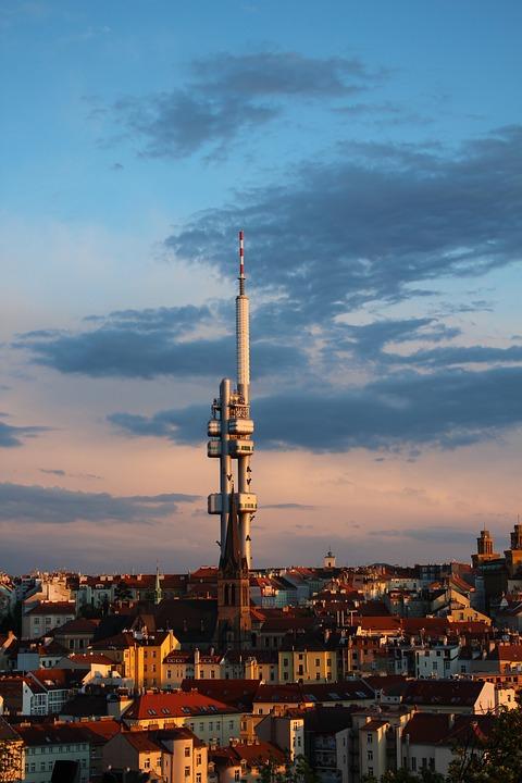 Žižkov Tower, Tv Tower, Prague, Zizkov, Architecture