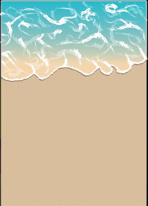 Pantai Ombak Gambar Vektor Gratis Di Pixabay