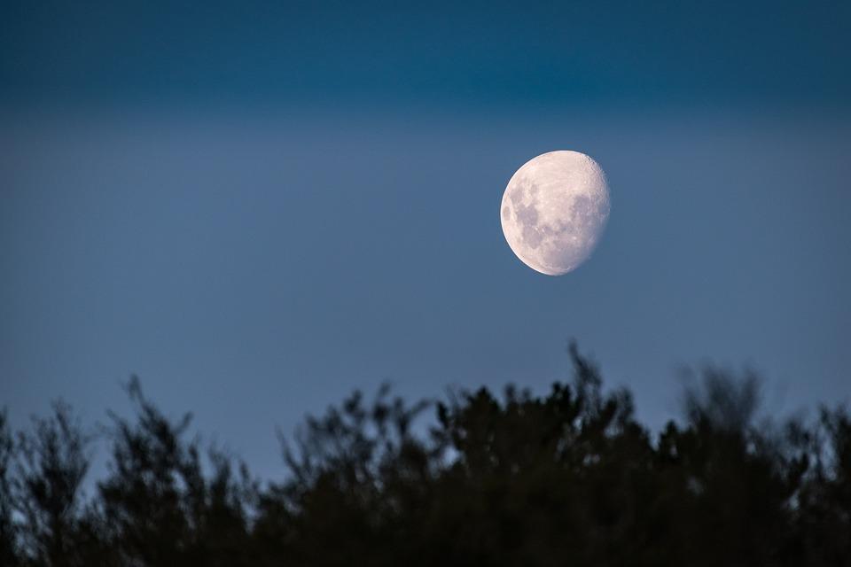 Luna, Luz De La Luna, Anochecer, Velada, Tarde, Noche