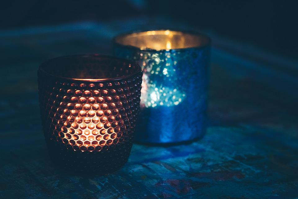 Thee Licht Houder, Kaarslicht, Sfeer, Romantische