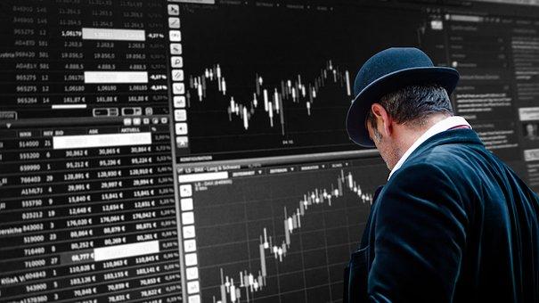 Trader, City, London, Trading, Stock
