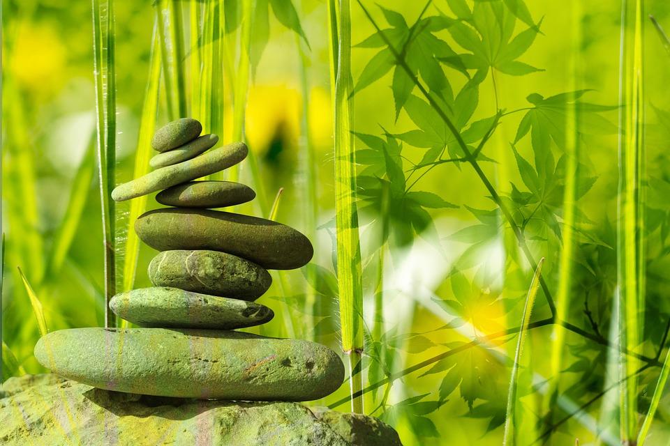Meditáció, Mérleg, Pihenés, Stone, Zen, Kövek, Levelek