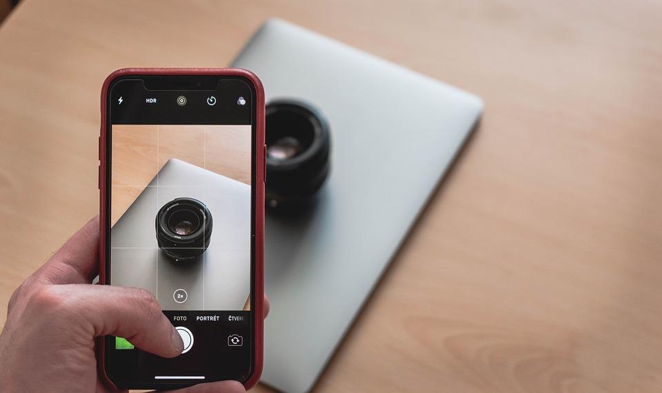 มือถือ, สมุดบันทึก, เลนส์, การถ่ายภาพ, Iphone, Macbook