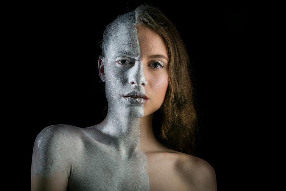 Weibliche Modell, Bemalung, Porträt, Make Up