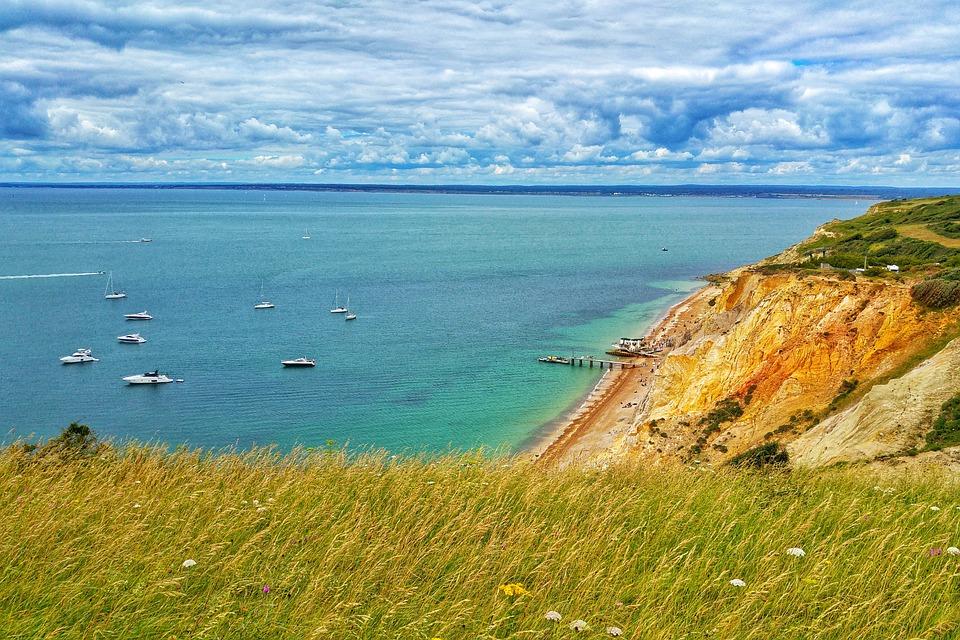 Isle Of Wight, Uk, Island, Sky, Beach, Cliff, Sea