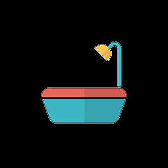 Bathtub, Icon, Bath, Shower, Sink
