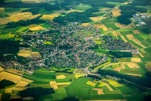 Habitat, Vista Aérea, Cidade Pequena