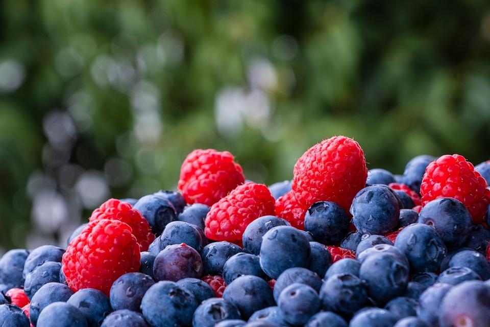 Lamponi, Mirtillo, Frutta, Bacca Nera, Alimentari